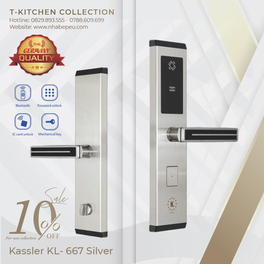 Khóa điện tử thông minh Kassler KL-667 Silver (màu Bạc) – Nhà Bếp Eu